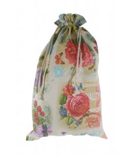Bolsa para el para en tela estampada diseño Frutas. Medidas: 57x37 cm.
