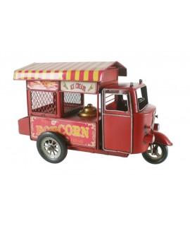Chariot de maïs soufflé rouge. Mesures: 20x32x14 cm.