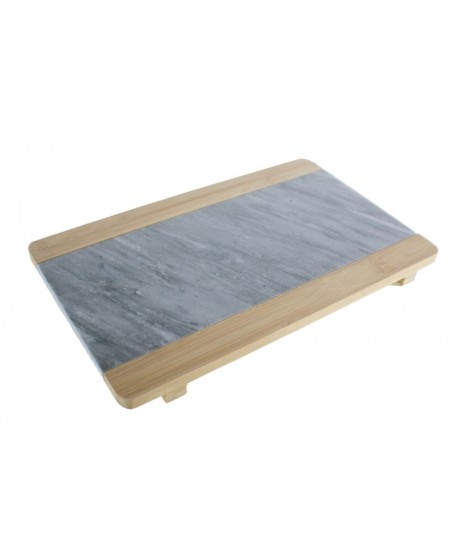 Tabla de corte en bambú y mármol natural para alimentos utensilio menaje de cocina