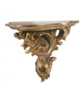 Mènsula daurada repujada en or mida petita. Mesures: 15x14x9 cm.