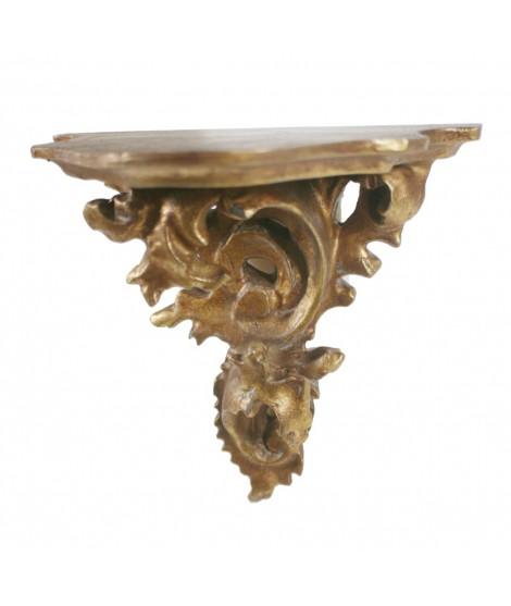 Ménsula dorada repujada en oro tamaño pequeño. Medidas: 15x14x9 cm.