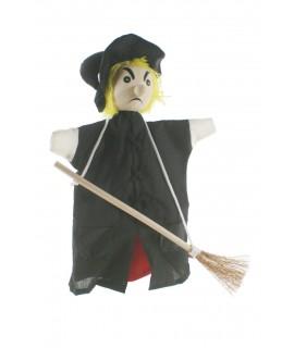 Marionnette à main Sorcière à balai
