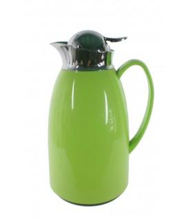 Termo de 1L estilo vintage color verde para bebidas frías y calientes bebida de té, café, agua. Medidas: 28xØ14 cm.