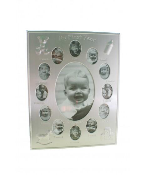 Porta foto múltiple de metal para 13 fotografías infantil