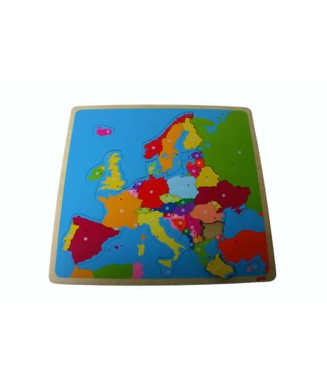 Puzzle de madera Europa. Medidas: 32x30 cm.