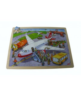 Puzzle de 96 piezas de madera aeropuerto juego infantil