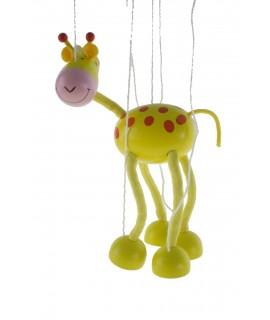 Marioneta de cuerda en madera mod. Jirafa. Medidas: 38x16 cm.