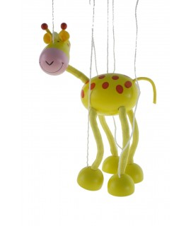 Titella de corda en fusta mod. Girafa. Mesures: 38x16 cm.
