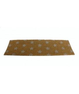 Felpudo estrecho para puerta con dibujo estrellas. Medidas: 22x75 cm.