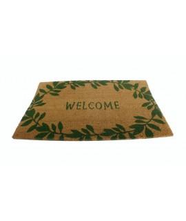Estora d'espart per a porta amb benvinguda welcome. Mesures: 75x45 cm.
