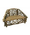 Banco de madera reflotada estilo primitivo. Medidas: 102x150x75 cm.