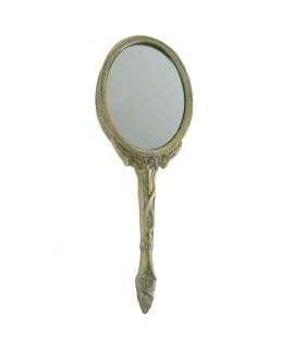 Miroir à main pour la coiffeuse et la salle de bain. Mesures: 27x13 cm.