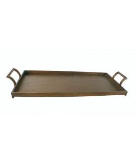 Très grand plateau pour le service de table. Mesures: 80x30x10 cm.