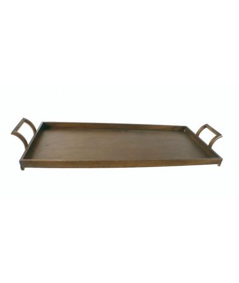 Bandeja muy grande para servicio de mesa. Medidas: 80x30x10 cm.