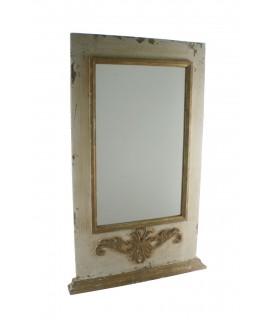 Espejo de pared con marco de madera acabado rustico con relieve