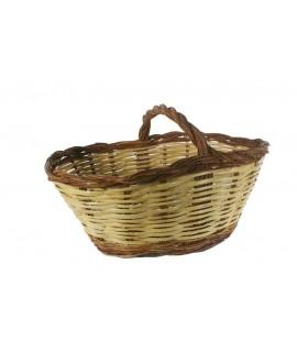 Cesta caña y mimbre tradicional para setas cesta almacenamieento hogar