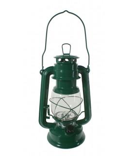Farol LED de chapa color verde estilo antiguo para iluminación jardín