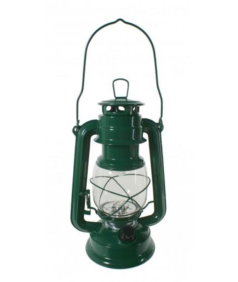 Fanal LED de xapa color verd. Mesures: 27x16 cm.