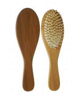 Cepillo madera para el pelo y reducir el encrespamiento y la rotura