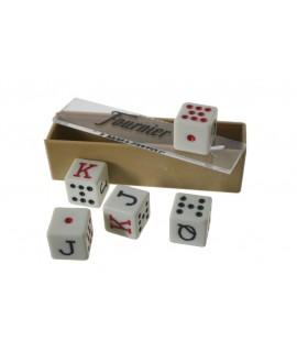 Dés de poker pour le jeu de cartes. Mesures: 1,5 cm.
