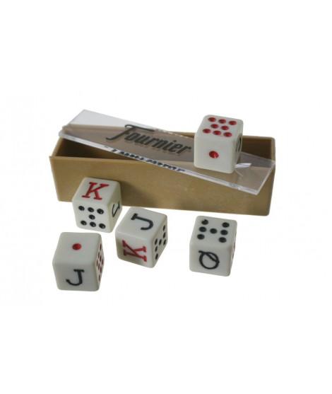 Daus de Pòquer per a joc de cartes. Mesures: 1,5 cm.
