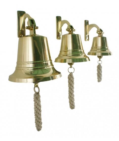 Campana de fundición en latón y alta sonoridad. Medidas: Ø 12,5 cm.