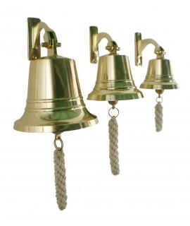 Campana de fundición en latón y alta sonoridad. Medidas: Ø 10 cm.