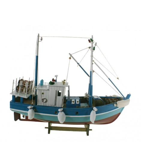 Barco de pesca marisquero. Medidas largo: 45 cm.