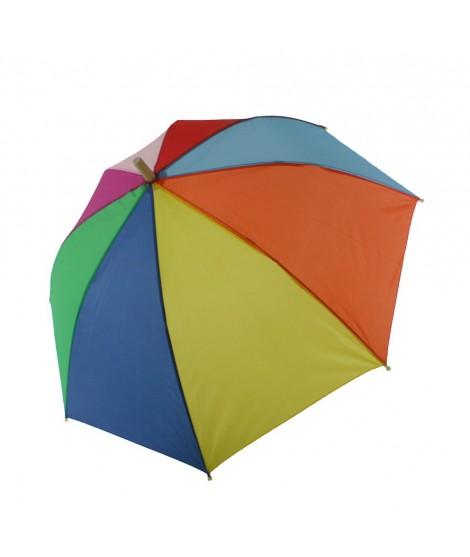 Paraguas infantil multicolor con figura madera. Medidas: 75xØ90 cm.