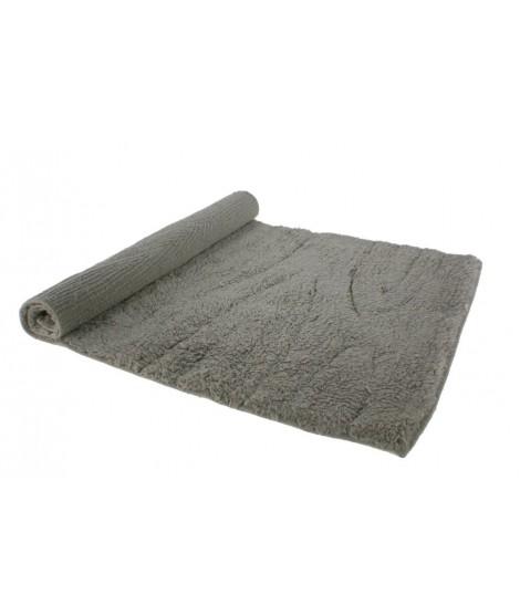 Alfombra baño algodón 600gr. color gris. Medidas: 84x50 cm.