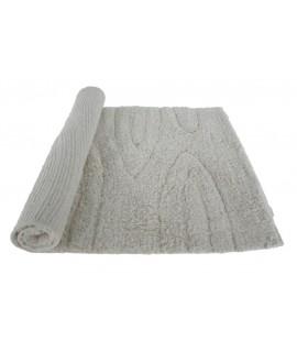 Alfombra baño algodón 600gr. color marfil. Medidas: 84x50 cm.