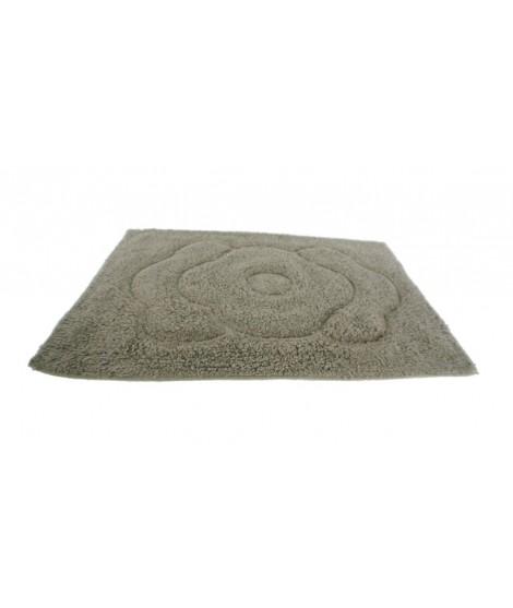 Alfombra baño algodón 300gr. color gris. Medidas: 60x40 cm.