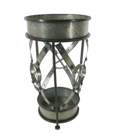 Paragüero metal color estaño decoración mueble recibidor estilo vintage