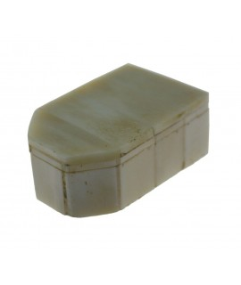 Petite boîte en os véritable blanc avec couvercle