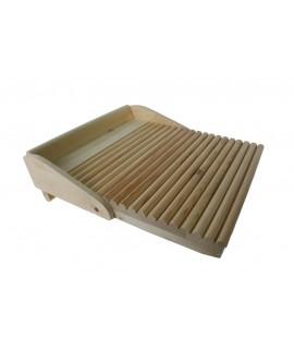 Planche de bois pour le lavage des mains en bois naturel