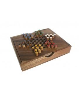 DAMES CHINOISES. Jeu en bois de deux à six joueurs. Mesures: 4x16x13 cm.