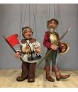 Marioneta de cuerda Don Quijote de la Mancha. Medidas: 42 cm.
