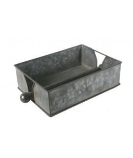 Dispensador de toallitas klennex metálico rectangular color estaño con barra prensora central ideal regalo para decoración baño