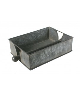 Distributeur de lingettes métalliques klennex rectangulaire couleur étain avec barre de pressage centrale décoration de la salle