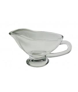 Salsera de vidre amb nansa. Mesures: 16x9 cm.