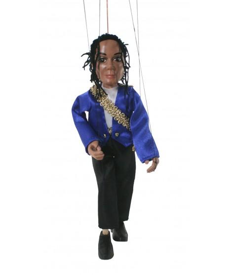 Marioneta de cuerda Michael Jackson. Medidas: 30 cm.