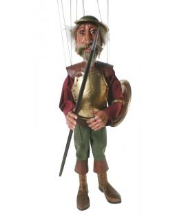 Titella de corda Don Quixot de la Manxa. Mesures: 42 cm.