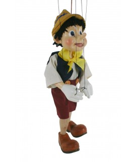 Marionnette à cordes Pinocchio. Mesures: 34 cm.