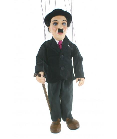 Marioneta de cuerda Charles Chaplin. Medidas: 41 cm.