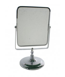 Espejo cromado para baño o tocador con aumento. Medidas: 27x16 cm.