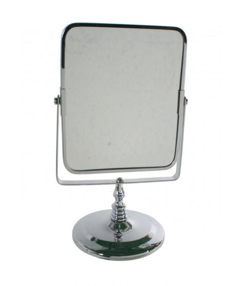 Mirall cromat per a bany o tocador amb augment. Mesures: 27x16 cm.