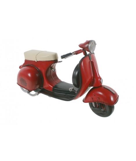 Ciclomotor scooter vermell Vintage. Mesures: 29x13 cm.
