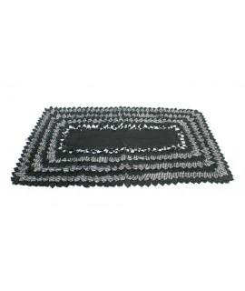 Alfombra alfombrilla grande de baño y ducha diseño color negro