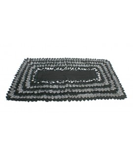 Catifa estora gran de bany i dutxa disseny color negre